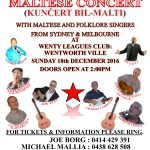 ALL MALTESE CONCERT AT WENTY LEAGUES – 18TH OF DECEMBER 2016